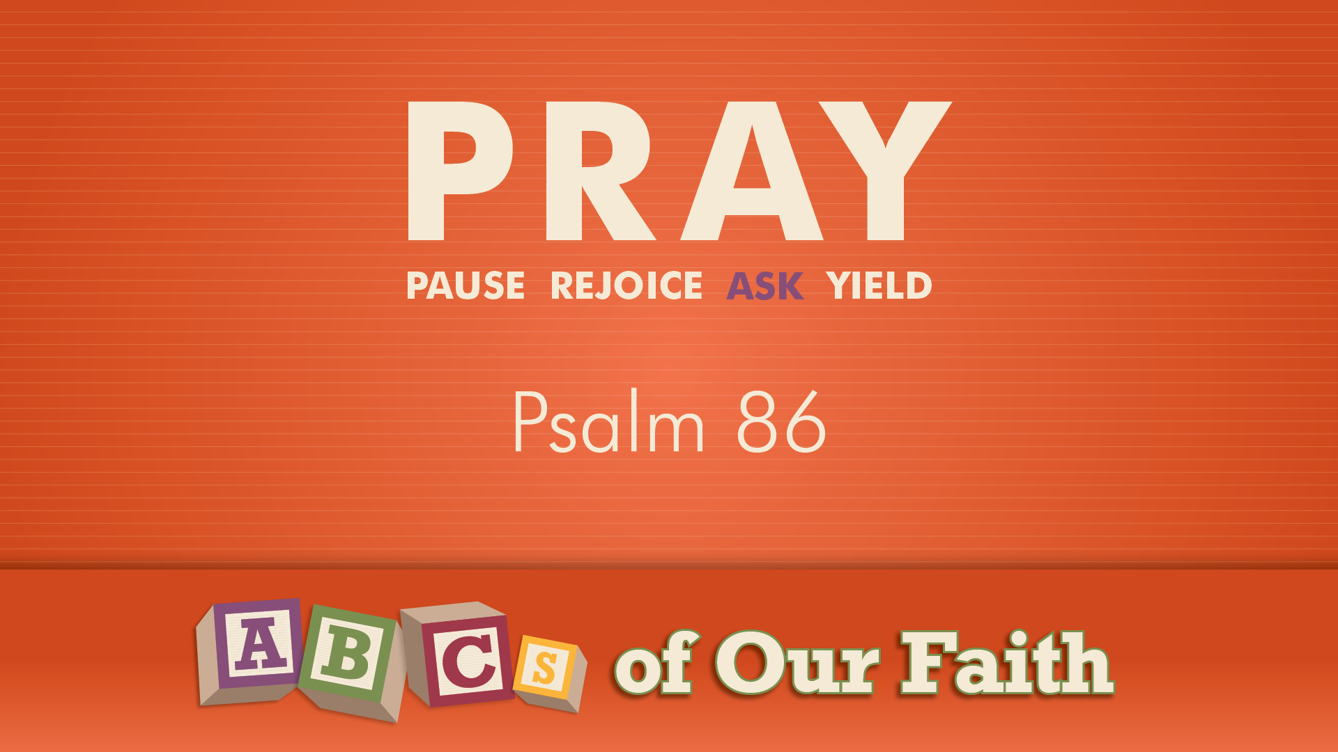 ABCs of our faith SEPT 20