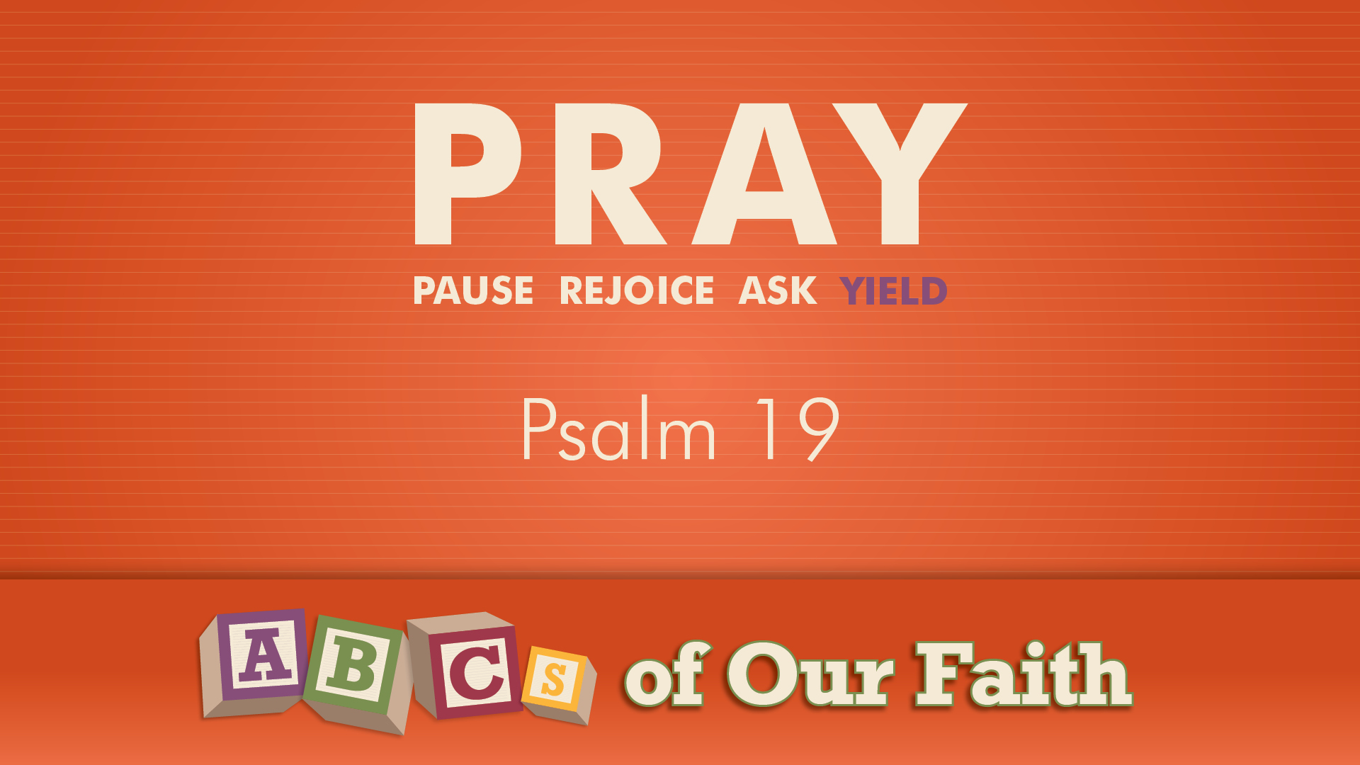 ABCs of our faith SEPT 27