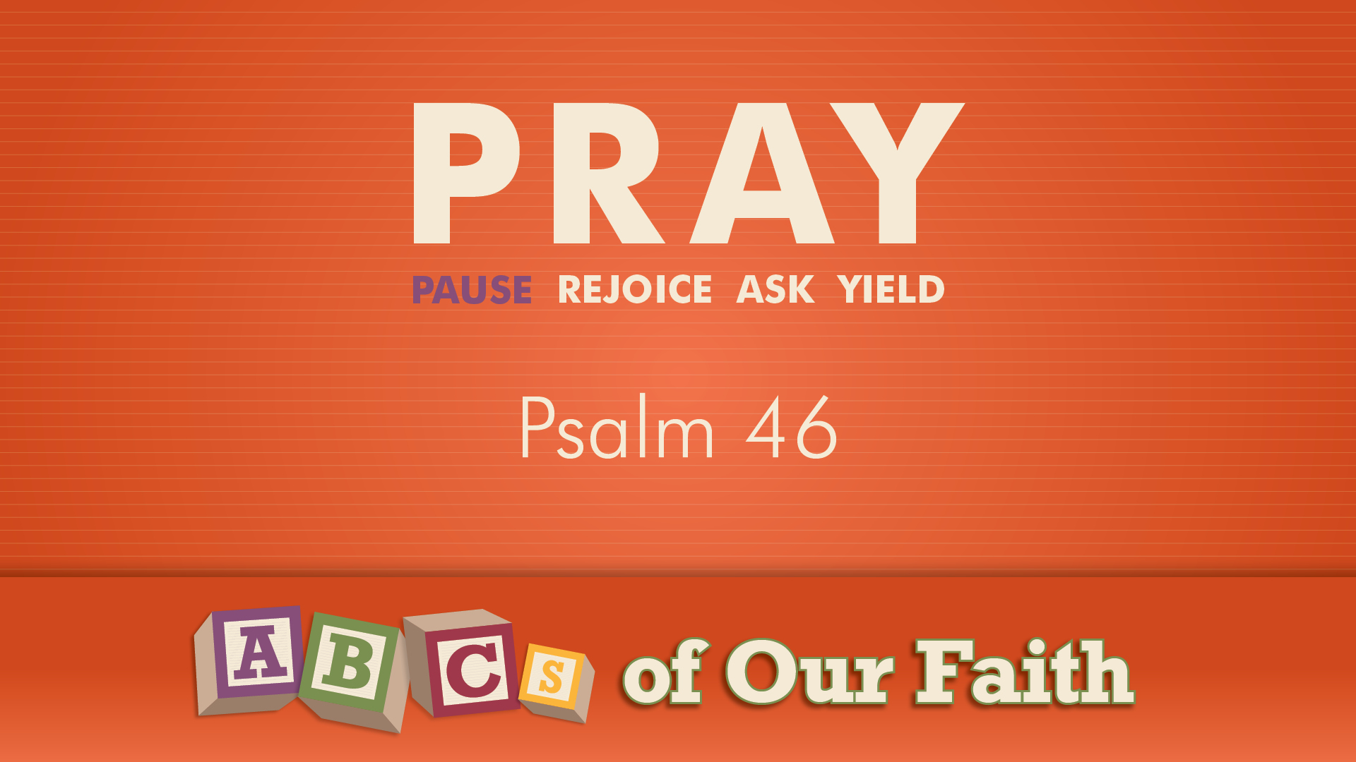 ABCs of our faith SEPT 6
