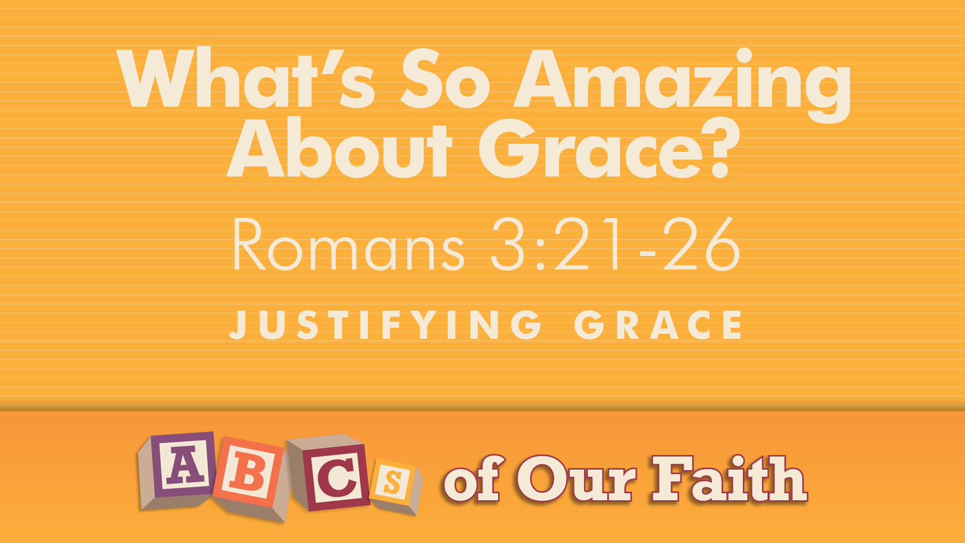 ABCs of our faith NOV8